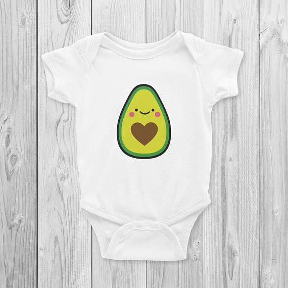 0c0646e17 Avocado Onesie, Bodysuit, Cute, Avocado Baby Gifts, Avocado Baby Shower,  Avocado Toast, Kawaii, Cute