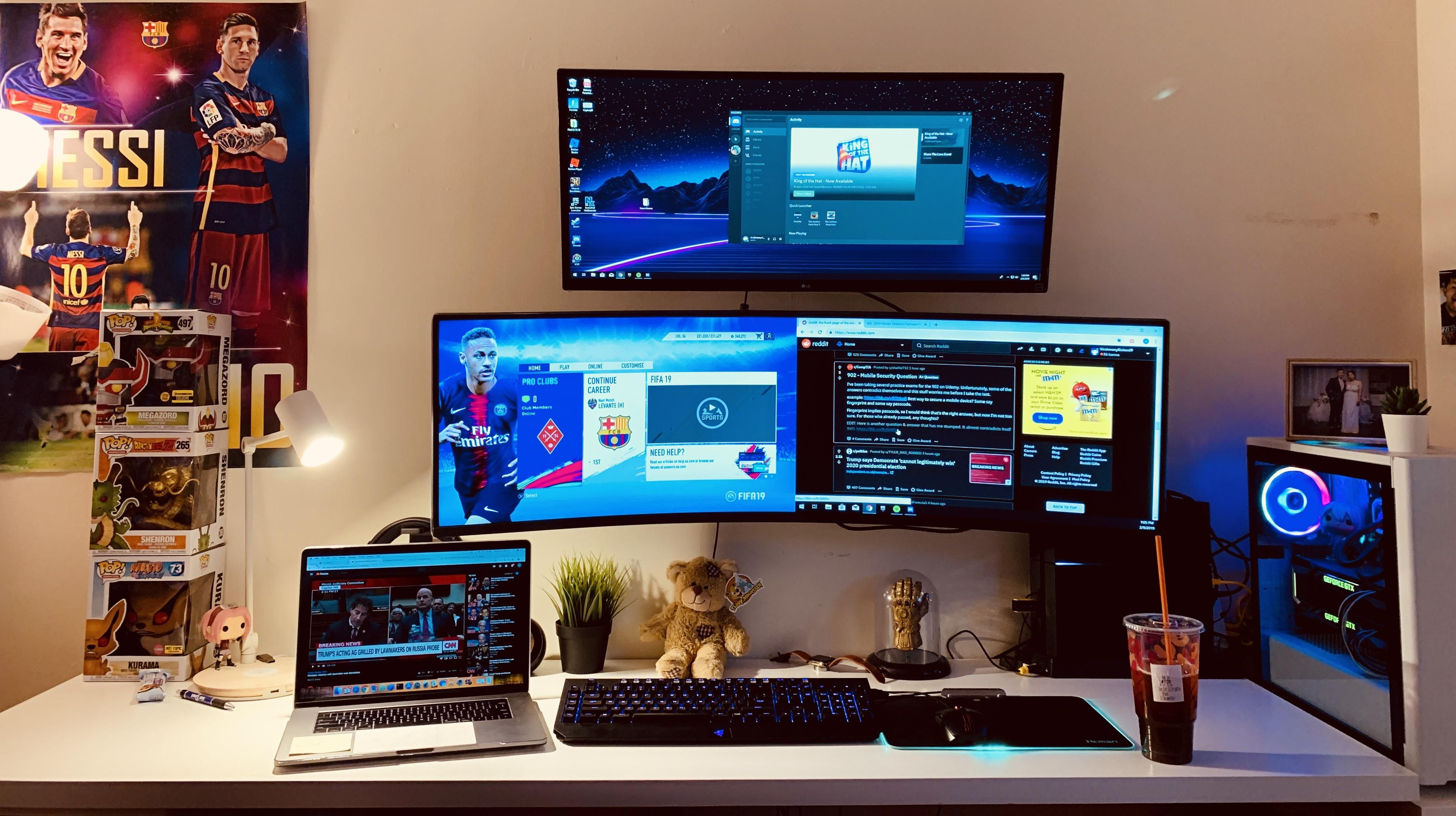 My Command Center For Gaming Productivity Work And Reddit Command Center Battlestation Pc Setup