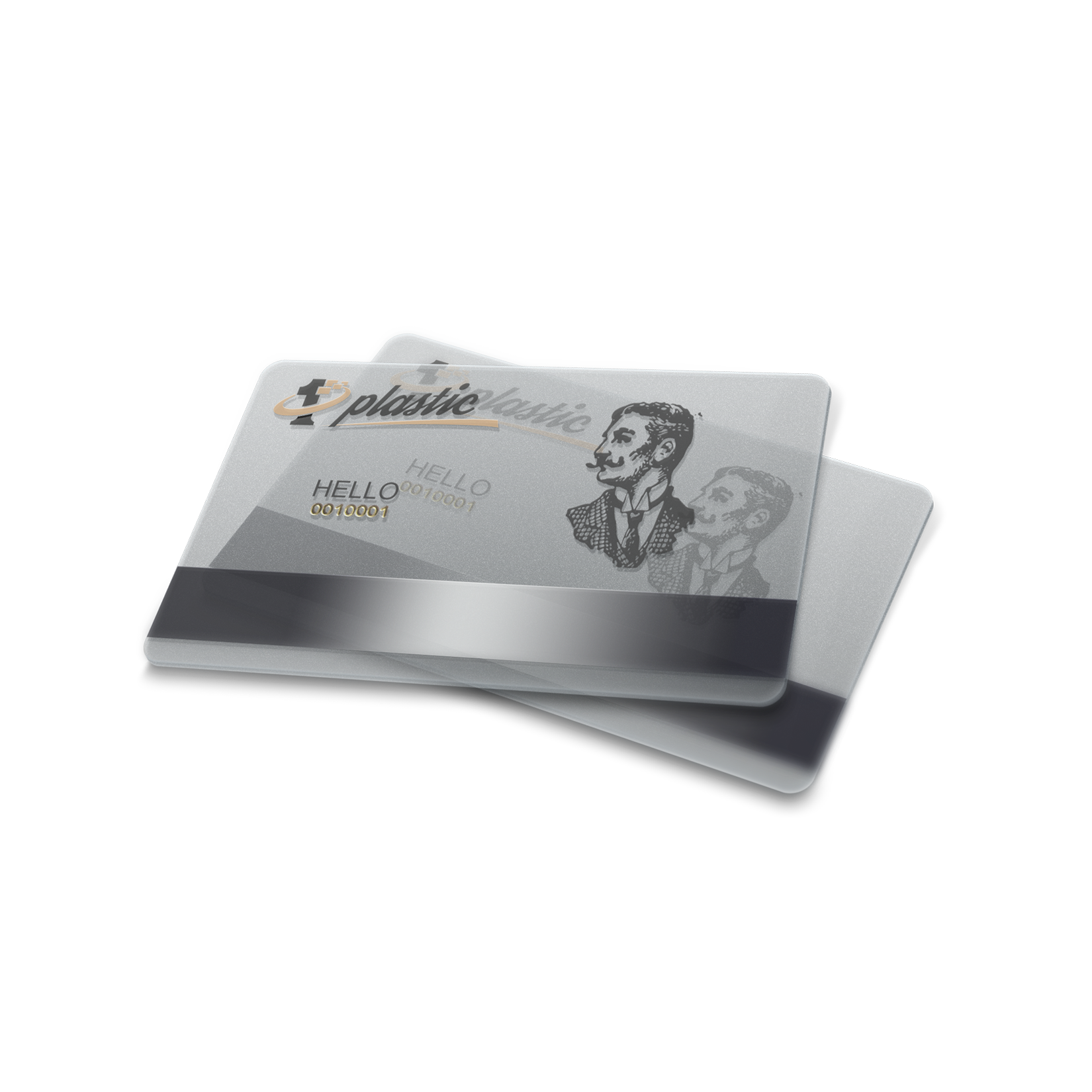 Buy Online Clear Card Magnetic Stripe Gold Embossing Browse