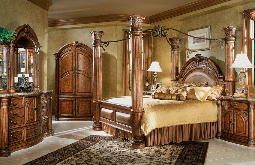 Monte Carlo Bedroom Set: Aico Monte Carlo Canopy Bed | For ...