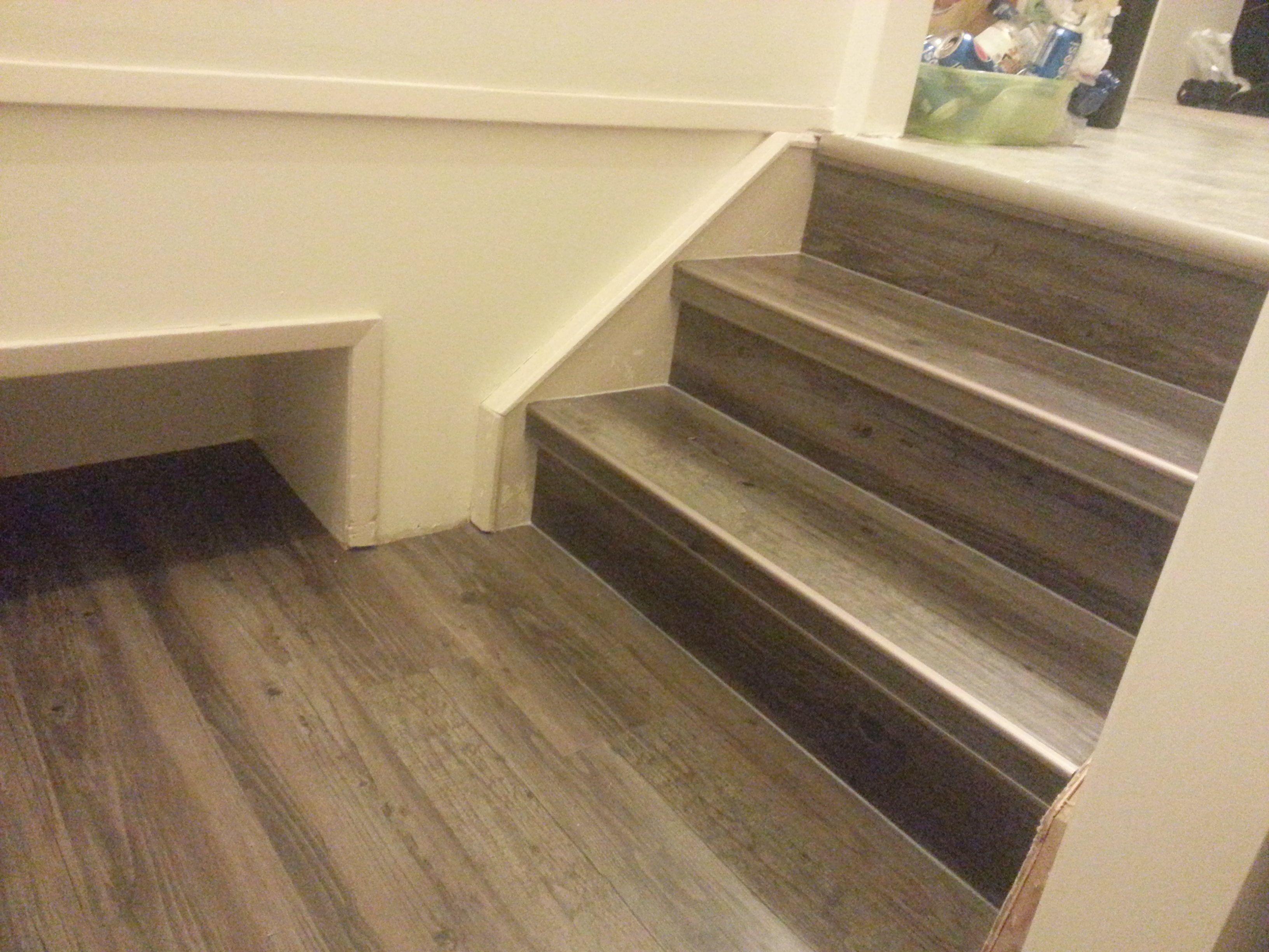 Image Result For Vinyl Plank Flooring On Stair Stringers Laminate Stairs Tile Stair Nosing Vinyl Plank Flooring
