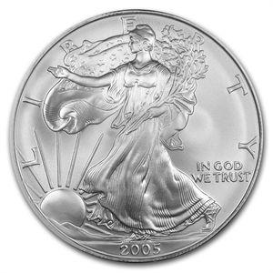 2005 1 Oz Silver American Eagle Bu Silver Bullion Coins American Silver Eagle Silver Eagles