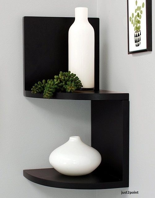 Corner Shelf Display Rack Zig Zag Storage Furniture Wall Mount Router Holder Corner Shelf Design Floating Shelves Wall Mounted Corner Shelves