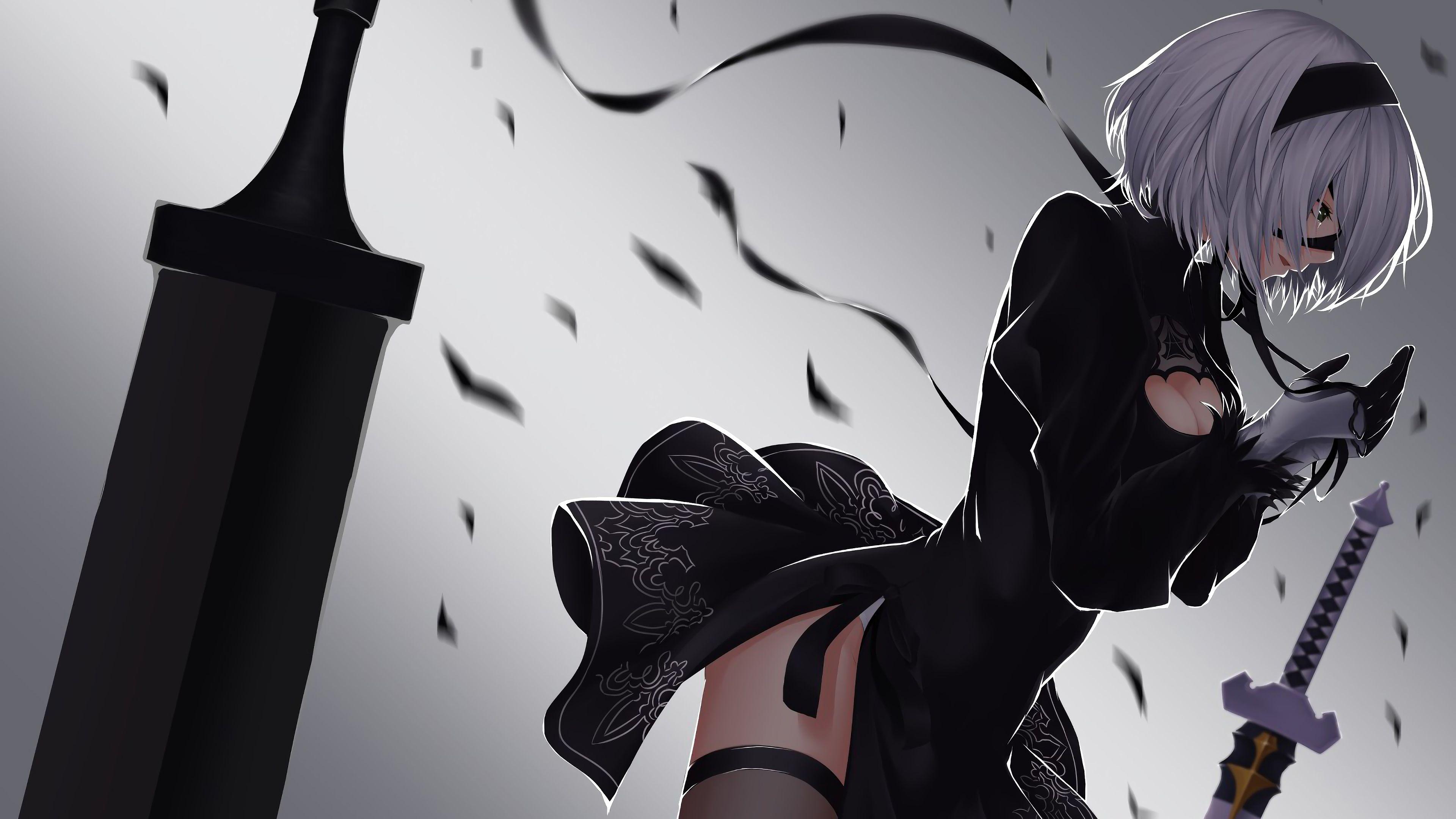 Yorha 2b Nier Automata 4k 13852 3840 2160 Nier Automata Anime