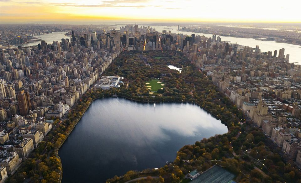 amazing view of central park, NYC photo
