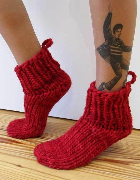 Lucky 13 Bed Socks | Knitting socks, Bed socks, Knitting ...
