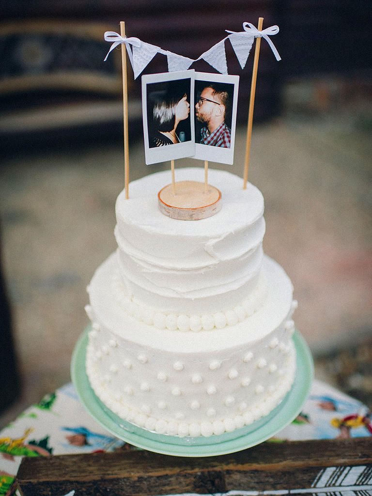 15 Awesome DIY Wedding Cake Topper Ideas | Pinterest | Polaroid ...