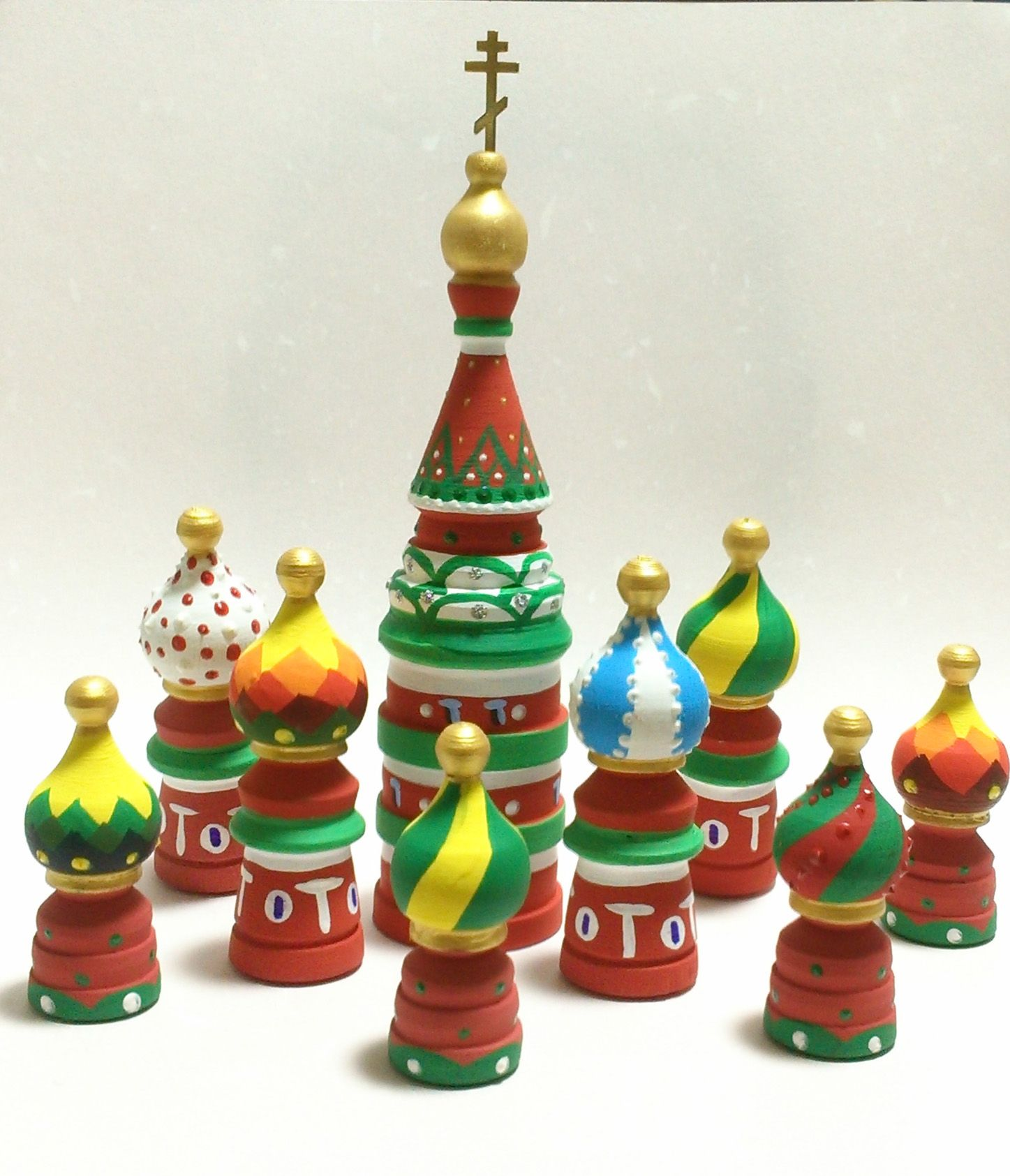 Russian Domes Ornaments New Year S Tree Wooden Christmas