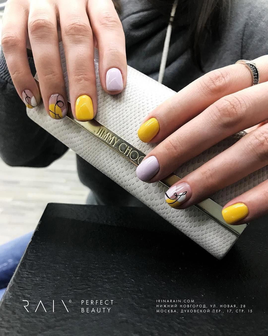 Yellow Glitter On White Glitter Nails Jurenbeauty Plain Nails Nails My Nails