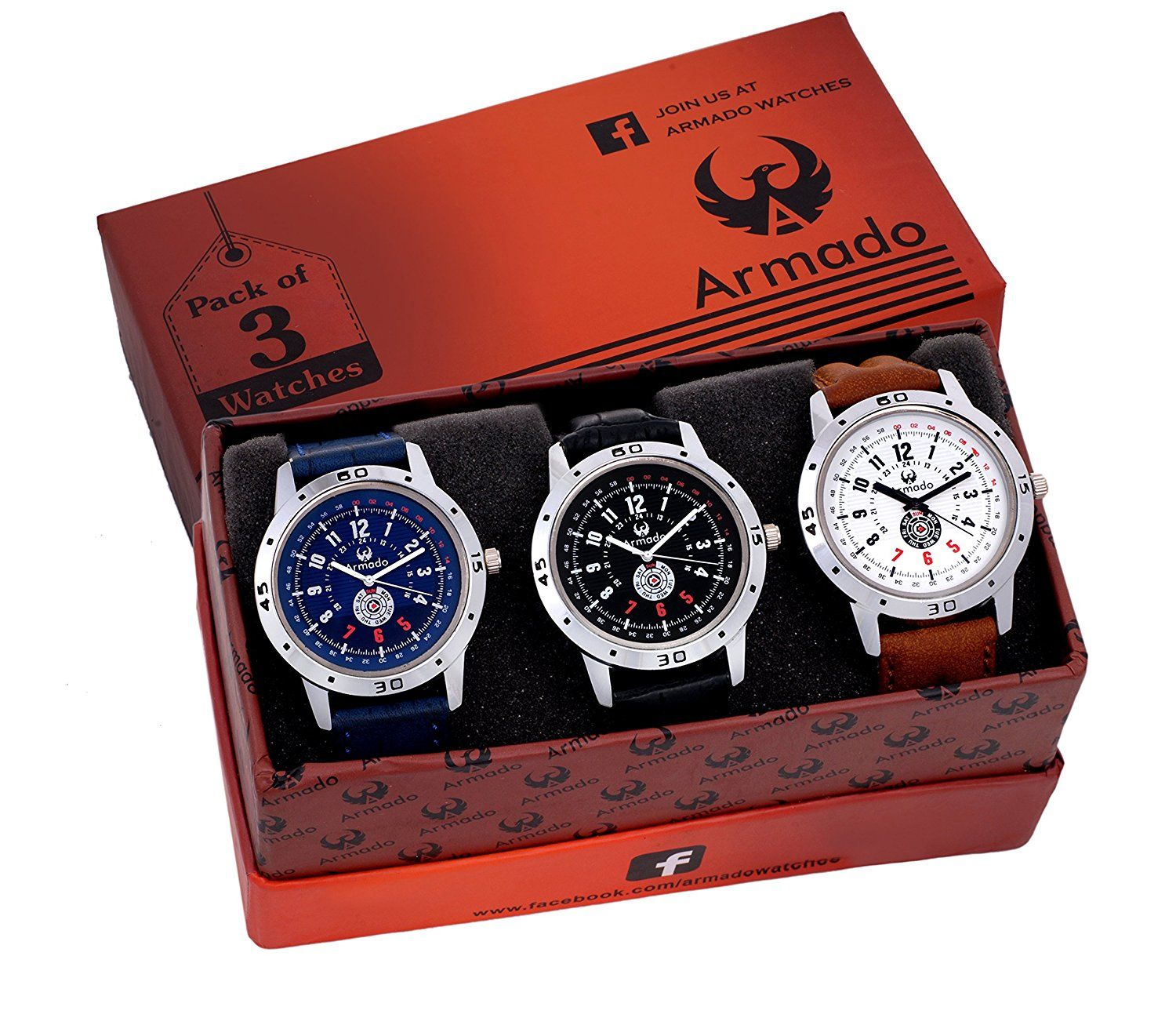Armado Combo Pack Of 3 Analogue Blue, Black Dial Mens Watch-Ar-621251    Watches   Watches, Watches for men, Luxury watches for men 6c445e994d