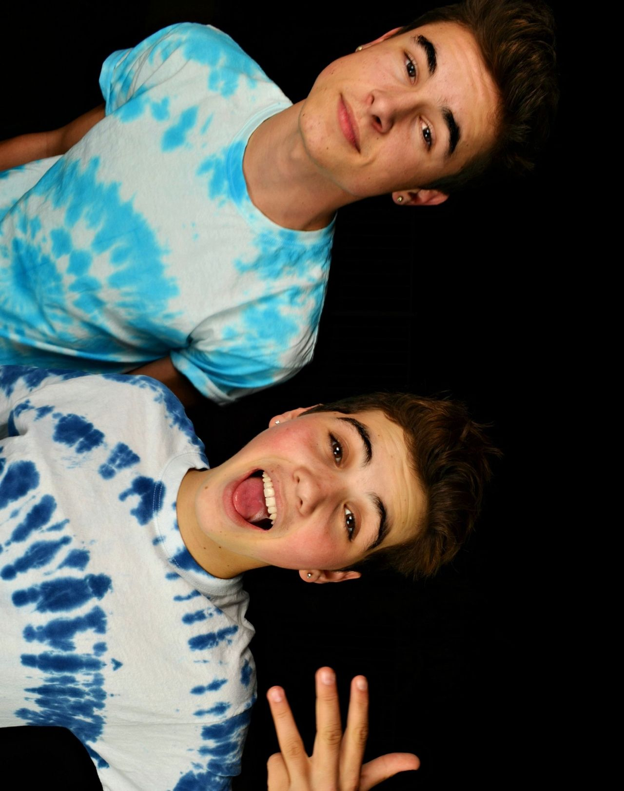 Sam Pottorff and Kian Lawley, dressed up for the Trouble music video