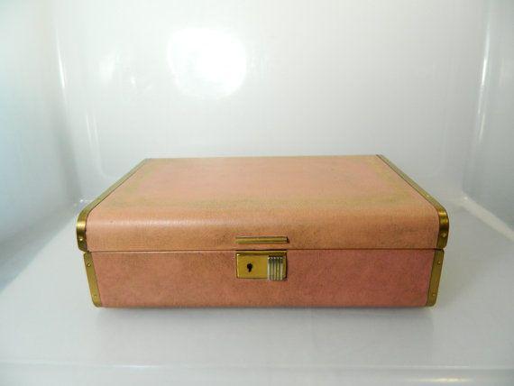 Vintage Farrington Jewelry Box With Key Genuine Texol Locking Box