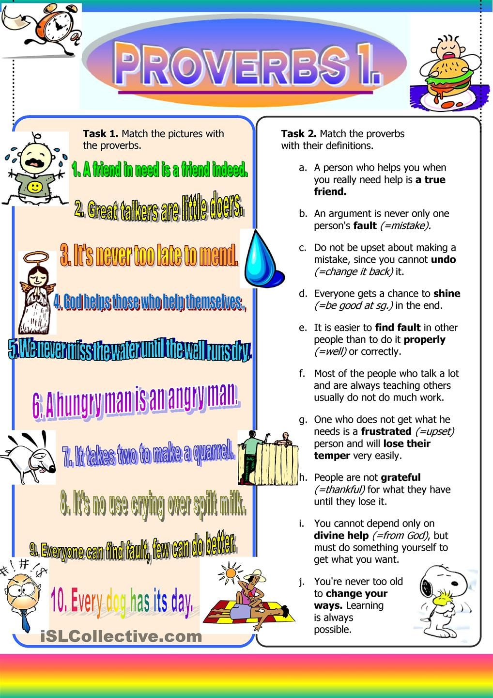 60 Free Esl Proverbs Worksheets Proverbs For Kids Proverbs Bible Lessons [ 1440 x 1018 Pixel ]