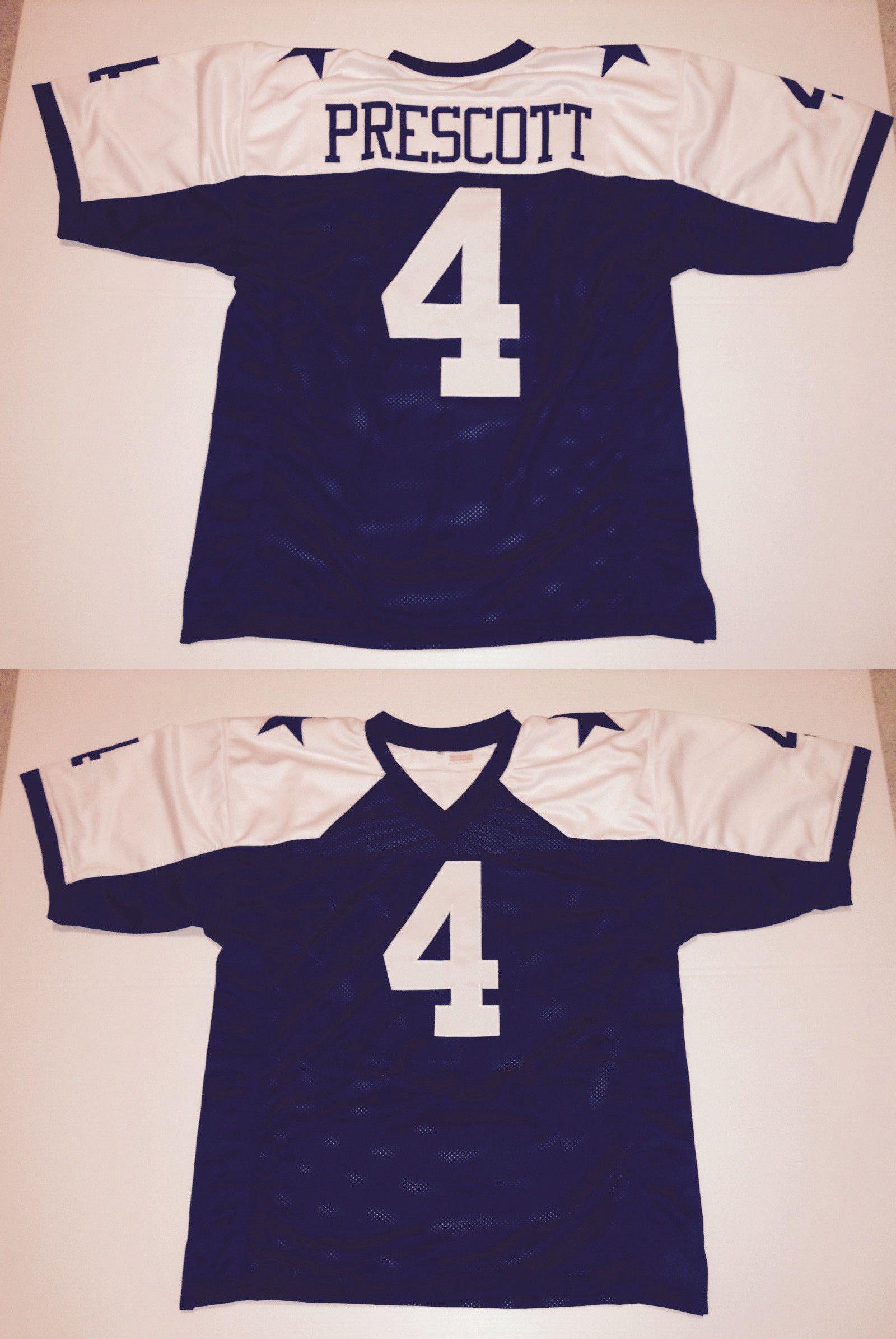 cec8c86f76e Football-NFL 206  Unsigned Custom Sewn Stitched Dak Prescott Thanksgiving  Jersey - M