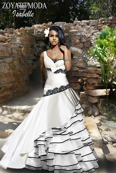 Black And White Wedding Gown Our Gowns Are Fully Boned With An