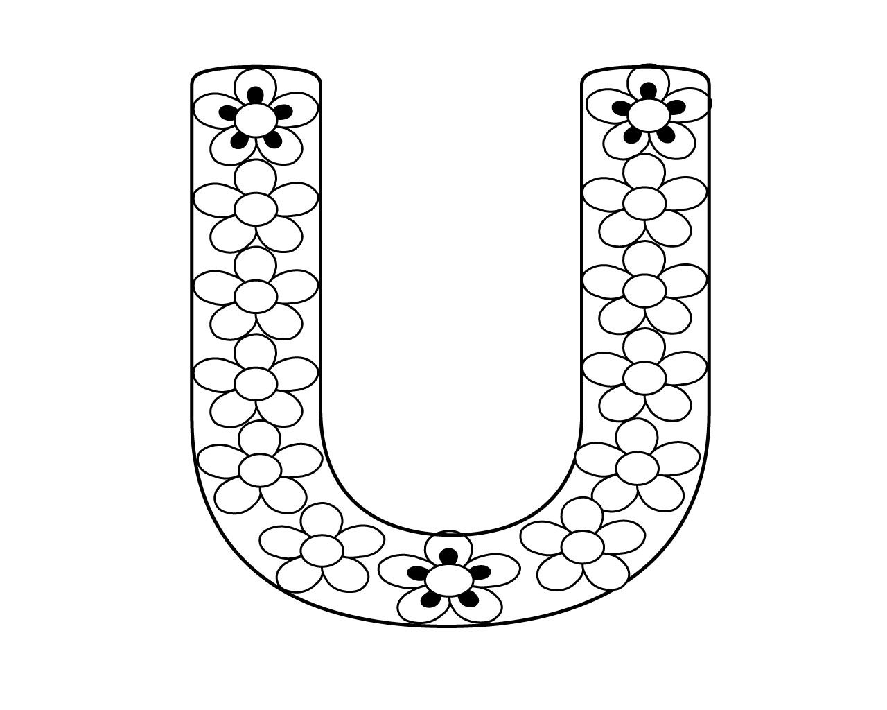 Letter U Coloring Page To Print for Your Little Ones (With