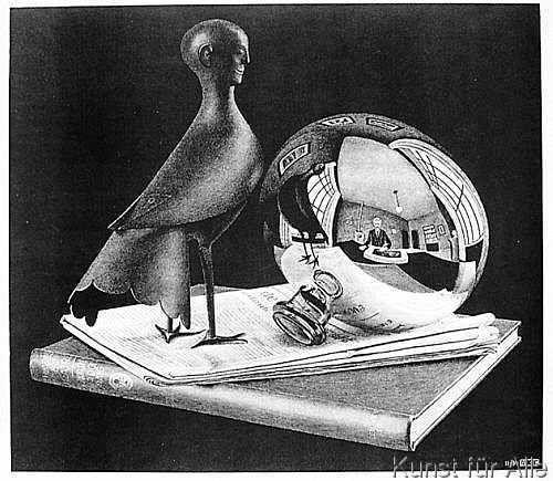 Maurits Cornelis Escher - Stilleben mit Kugel 57