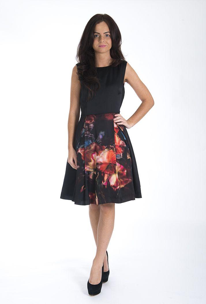 fa51d4da37a5 The new amazing  Ted Baker Marinka Black Winter Sweet Pea Print Dress -   TedBaker  AW2012