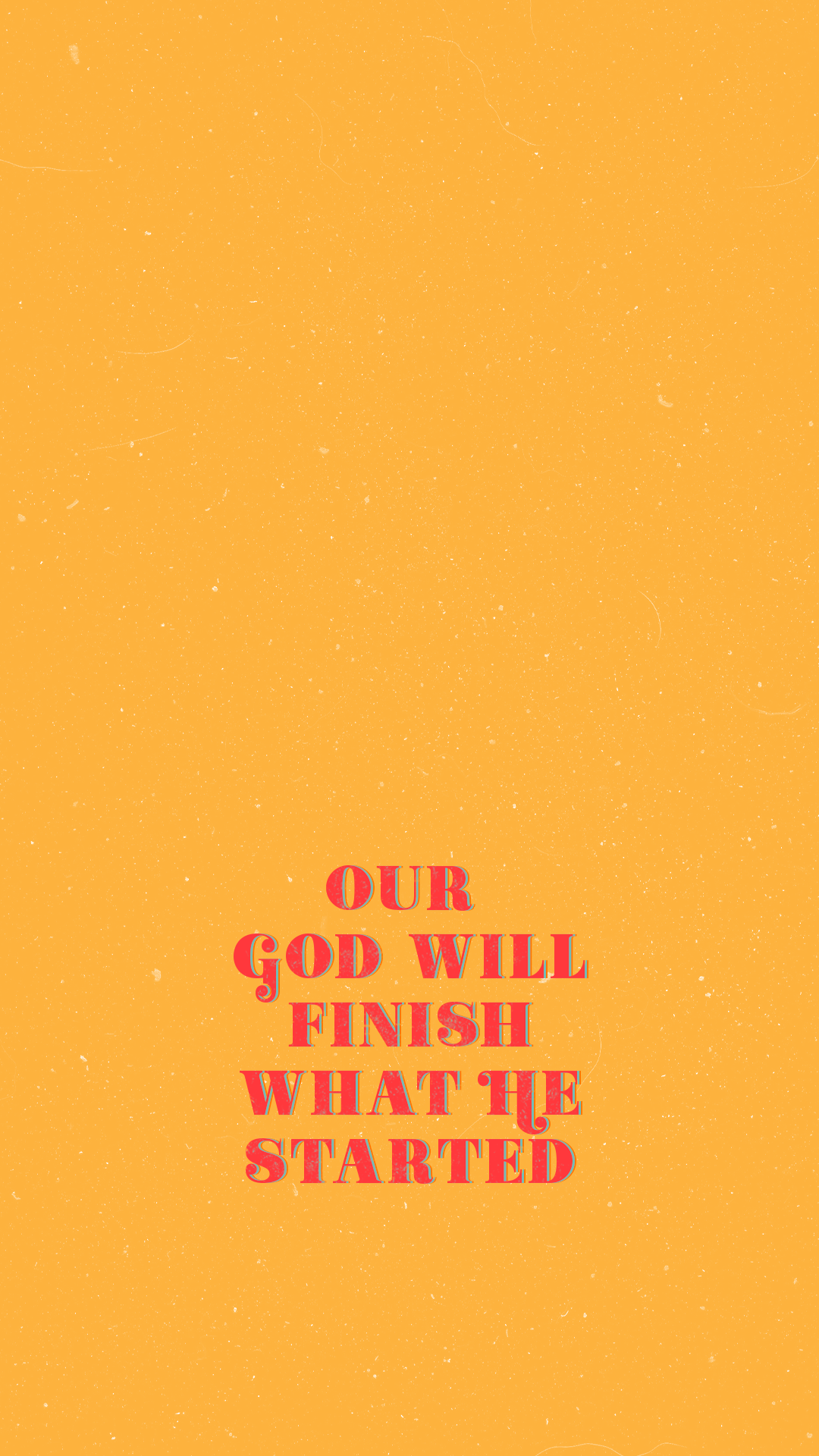 Our God Christian iphone wallpaper aesthetic yellow
