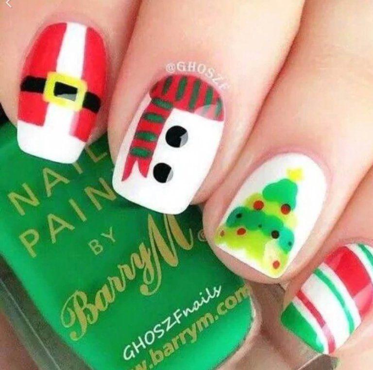 Uñas De Navidad Para Niñas Diseños De Uñas De Navidad Uñas De Gel Para Navidad Uñas Navidad