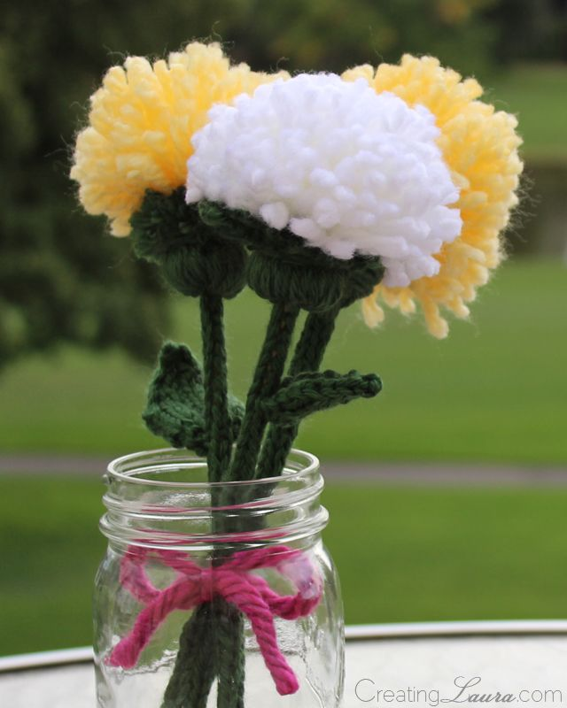 Creating Laura: A Knit Flower Bouquet for a Group Yarn Bomb ...