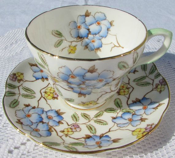 Foley Springdale Floral Chintz Tea Cup and Saucer by TheAcreage