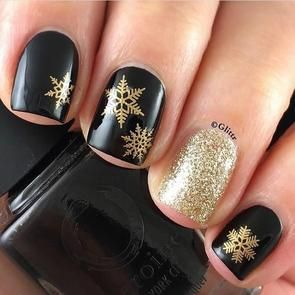 Water Decals - Gold Snowflakes
