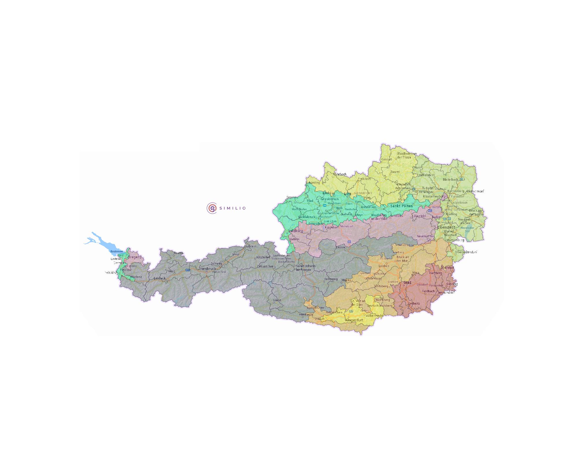 Osterreich Nach Grosslandschaften Topographien In 2020 Osterreich Mostviertel Alpen