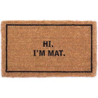 Amazing Canada Mats Hi I M Mat Doormat With Images Outdoor Door Mat Door Mat Funny Doormats