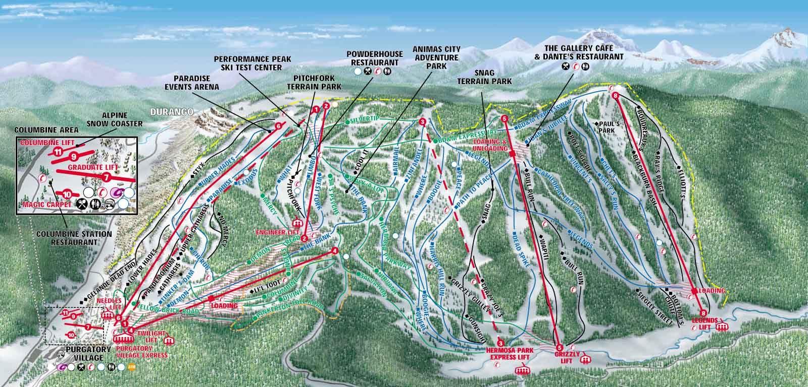 purgatory ski resort--durango, colorado. received pe credit from ft