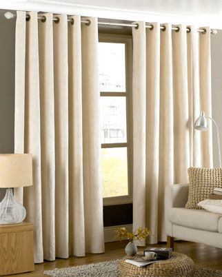 Emperor Ready Made Eyelet Lined Curtains In Cream From £33.99 | New ...