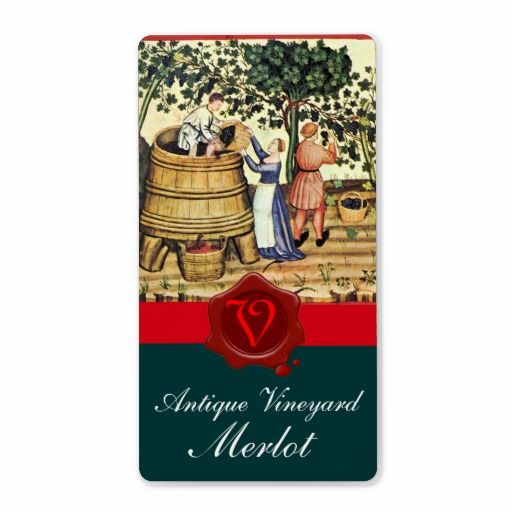"""Ancient Medieval Italian miniature of vinyard harvest .Classic rural scene.Beautiful hanged red grapes,grape vines,green fall leaves.Part from """" Season's Fruits """".This classy design is perfect for nutritionists,dieticians,caterers, food service,preparation or restaurant ,catering ,wine industries."""