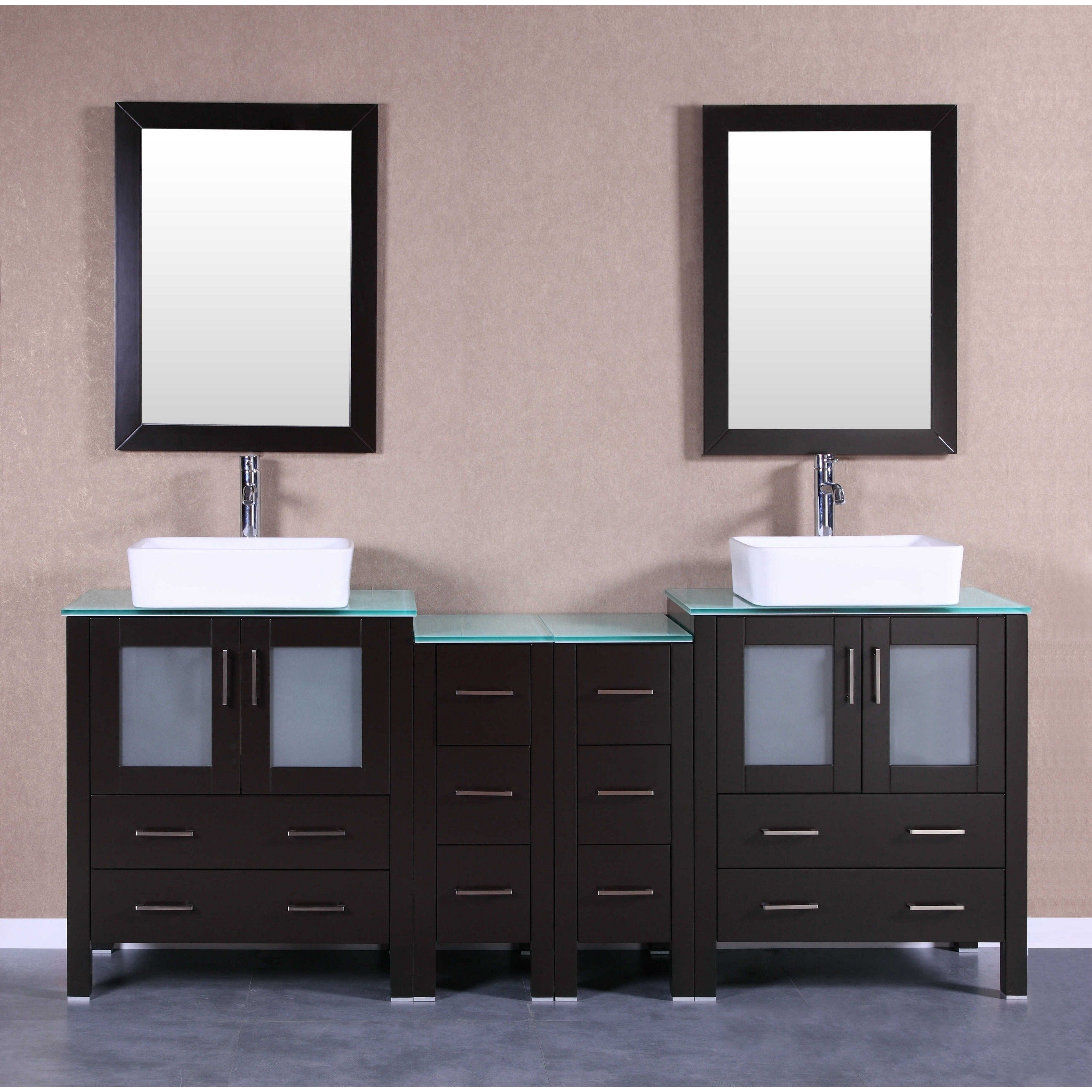 Bosconi Ab230rccwg2s 84 Inch Double Vanity With Mirrors And