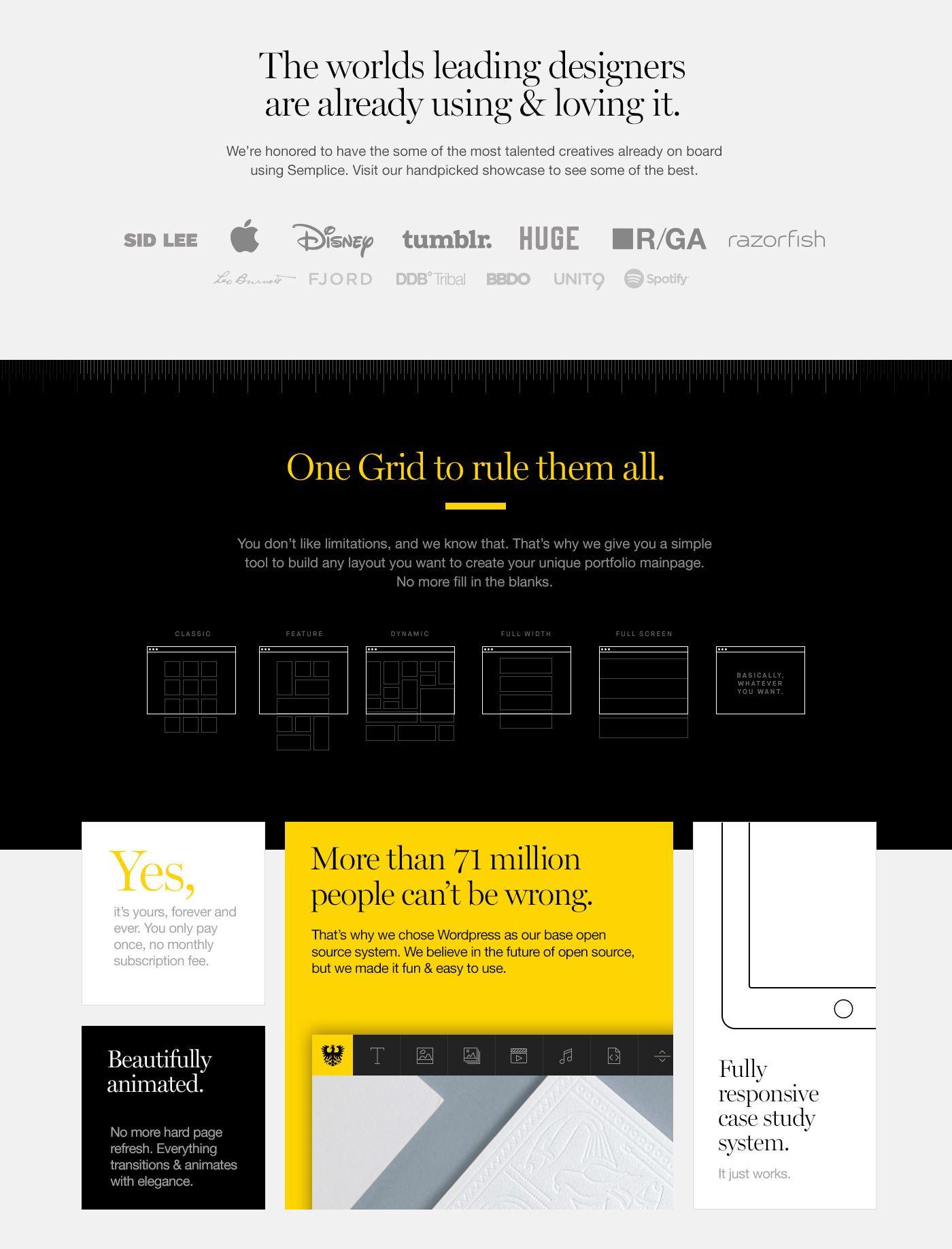 Semplice Website On Behance