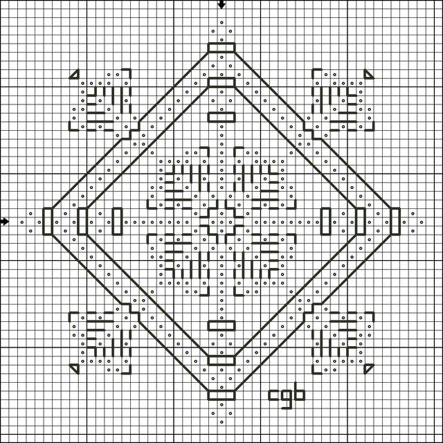 Counted Cross Stitch Patterns//Kits B/&W Symbols Charts Between Friends