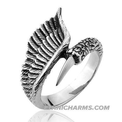 Punk engagement rings,Forefinger Titanium Girls High Sexual Wings ...