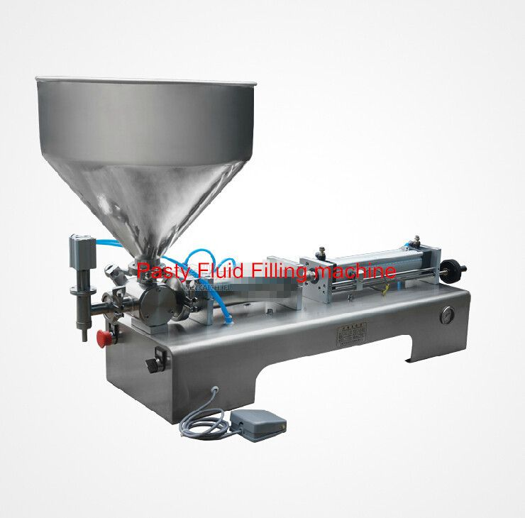 5 100ml Pneumatic Pasty Food Filling Machine Sticky Pasty Filler Stainless Ss304 Hot Sauce Bottling Equipment Beverage Packer Hot Sauce Filling Pasties