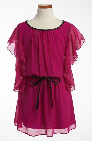 Sally Miller Flutter Sleeve Dress (Big Girls) available at #Nordstrom #sallymiller