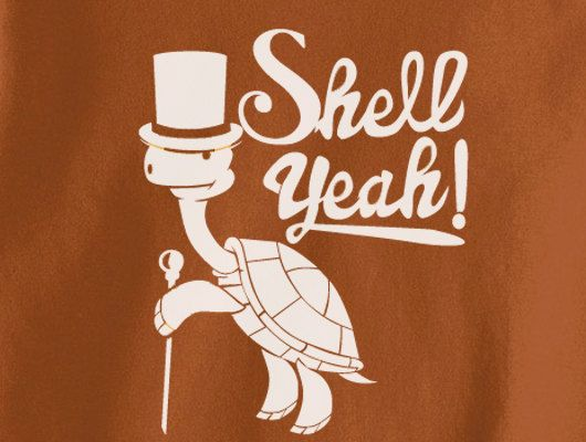 Trendy pop culture turtle hell shell yeah hipster punk retro novelty tee t shirt tshirt unisex ladies texas orange
