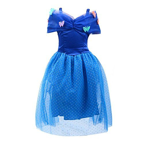 Loel Princess Cinderella Party Costume Dress (2-3YS) ** Click image to review more details.
