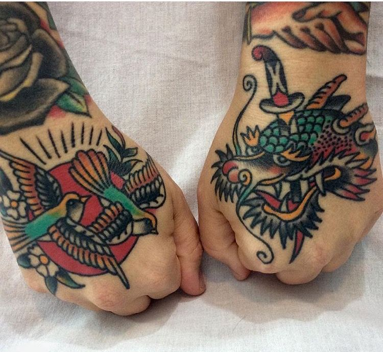Steve Byrne Tattoo Traditional Hand Tattoo Dragon Hand Tattoo Traditional Tattoo