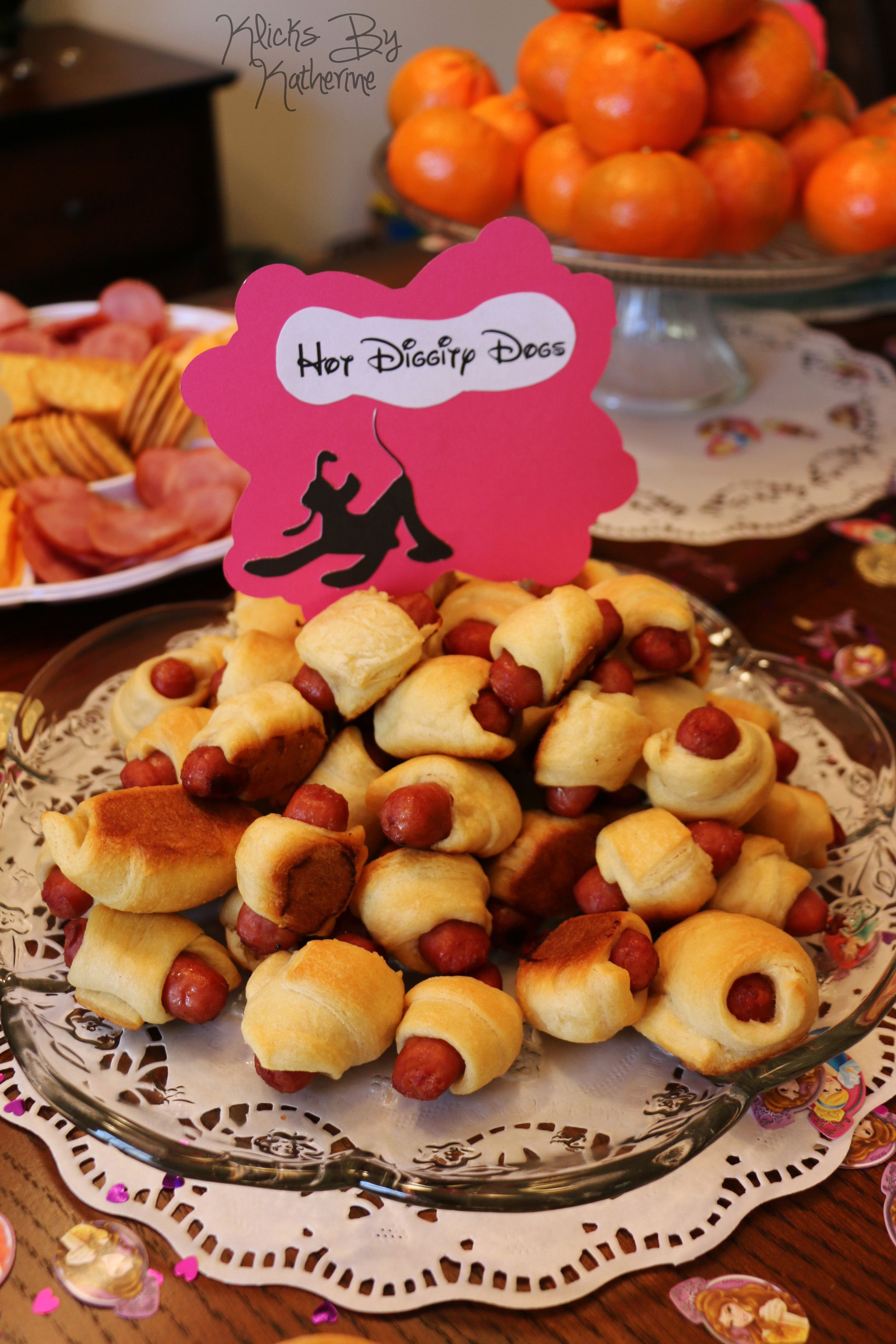 Disney Birthday Party ideas DIY Hot Diggity Dogs Pigs in a