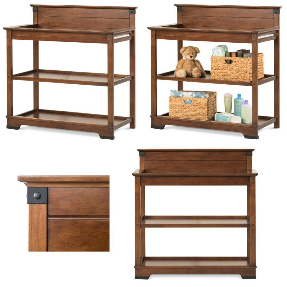 Redmond Changing Table With Pad Wrought Iron Style Changing Table Baby Nursery Furniture