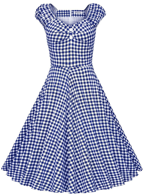 AmazonSmile: MUXXN Women\'s 1950s Style Vintage Swing Party Dress (M ...