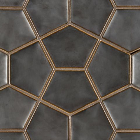 Ogassian Penta 3d Ceramic Tile In Metallic Black 8 3 4 X 11 7 8 Hexagon Tile Backsplash Ann Sacks Tiles Hexagon Tiles