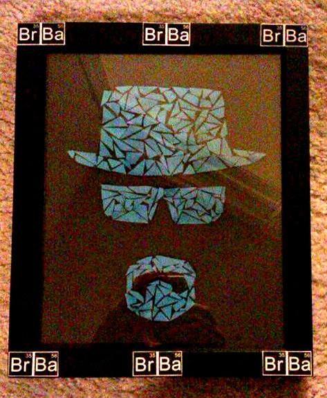 Breaking Bad Heisenberg mosaic fan art in Breaking Bad frame ...