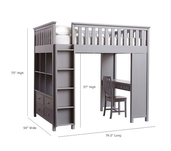 Elliott Loft System In 2020 Cheap Bedroom Furniture Low