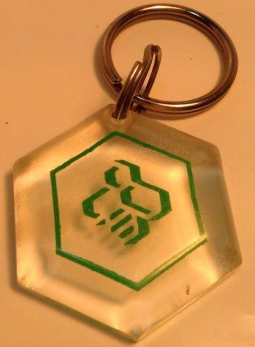 Vintage Logo Keychain CAISSE POPULAIRE DESJARDINS Ancien Porte-Clés DESJARDINS