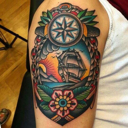 Samuele briganti old school pinterest tattoo for Tattoo school listings