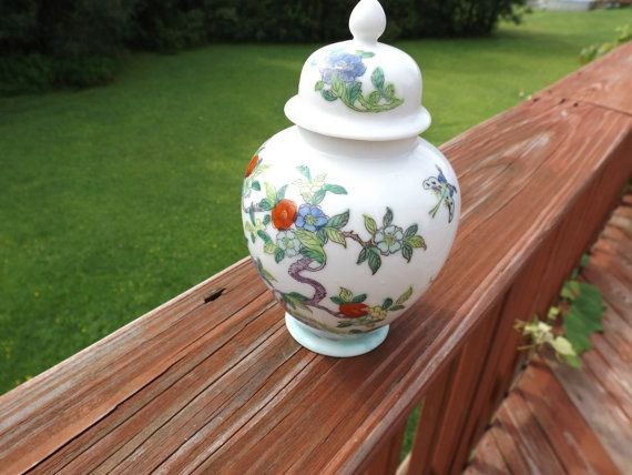 East  vase with lid . Table Centerpiece .Beautiful by HuntWithJoy,